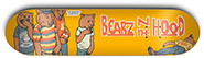 GRIZZLY X SKATE MENTAL BEARZ N THE HOOD YELLOW DECK 8.25