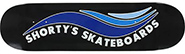 SHORTY\\'\\'S SKATE WAVE BLACK/BLUE DECK 7.75