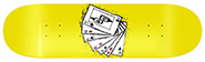 VAGRANT DECK OF CARDS YELLOW DECK 8.75