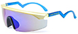 HAPPY HOUR LEABRES ACCELERATORS FROSTED YELLOW/BLUE SHADES SUNGLASSES