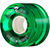 POWELL CLEAR GREEN CRUISER WHEEL 66MM 80A (Set of 4)