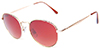 HAPPY HOUR TANCOWNY HOLIDAZE GOLD/RED SHADES SUNGLASSES