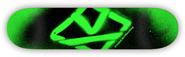 KROOKED TEAM SPRAY GREEN PP DECK 7.75