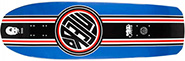 BLACK LABEL EMERGENCY LUCERO THUMBHEAD RACING STRIPE BLUE DIP RE-ISSUE DECK 10.00