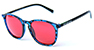 HAPPY HOUR NUGE FLAP JACKS BLUE/RED SHADES SUNGLASSES