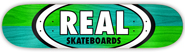 REAL TEAM DOUBLE DIP OVAL TEAL/LIME DECK 8.12