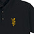 REAL BLOOM EMB POLO BLACK/GOLD L